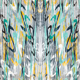五颜六色的美好的摘要在灰色背景难看的东西作用传染媒介例证的一个减速火箭的样式挥动 库存图片