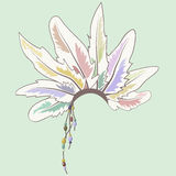 五颜六色的羽毛外缘您的设计的 免版税库存图片
