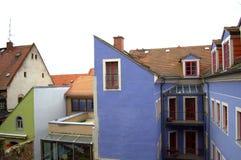 五颜六色的老房子德国 库存图片