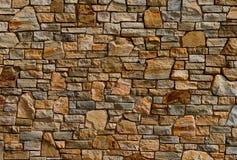五颜六色的老石纹理墙壁 库存照片