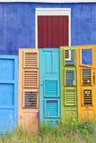 五颜六色的老门收藏 免版税库存图片