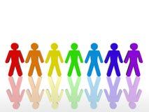 五颜六色的联盟 免版税库存照片
