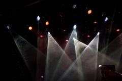 五颜六色的聚光灯剧院 免版税库存照片