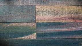 五颜六色的聚苯乙烯泡沫塑料砖 抽象颜色和纹理背景 库存照片