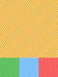 五颜六色的背景设置与对角波浪线 向量例证