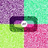 五颜六色的背景集合,无缝的样式,曲线 库存照片