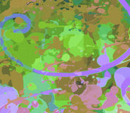 五颜六色的背景,数位被创造的艺术性的背景, 皇族释放例证
