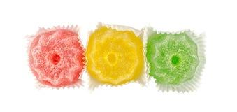五颜六色的脯果冻 免版税库存图片