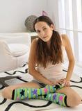 五颜六色的膝盖袜子 免版税图库摄影