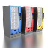 五颜六色的自动售货机 免版税库存图片