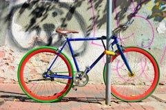 五颜六色的自行车 免版税图库摄影