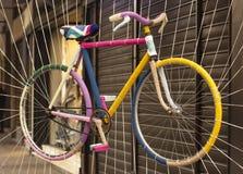 五颜六色的自行车 免版税库存照片