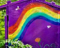 五颜六色的自豪感彩虹绘了 免版税库存照片