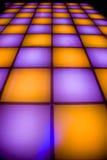 五颜六色的舞蹈迪斯科楼层照明设备 免版税库存图片