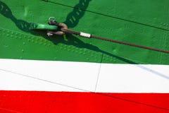 五颜六色的船船身 库存图片