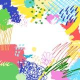五颜六色的艺术性的创造性的背景 库存照片