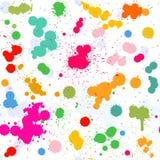 五颜六色的艺术性的水彩飞溅传染媒介 免版税库存照片