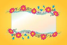 五颜六色的花传染媒介背景 库存照片