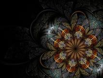 五颜六色的花分数维 库存例证