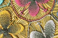 五颜六色的花刺绣 图库摄影