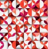 五颜六色的花卉形状样式或几何概念无缝的后面 免版税库存图片
