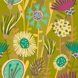 五颜六色的花卉无缝的样式 免版税图库摄影