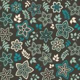 五颜六色的花卉无缝的样式 免版税库存图片