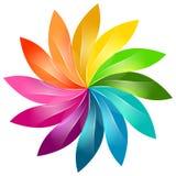 五颜六色的花卉标志 免版税库存照片