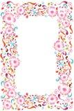 五颜六色的花卉框架 免版税库存照片