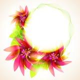 五颜六色的花向量 库存照片