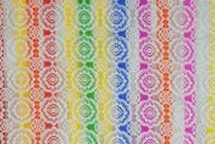五颜六色的花被塑造的背景纹理 免版税库存图片