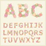 五颜六色的花字体 免版税图库摄影
