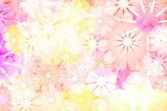 五颜六色的花抽象背景 库存图片