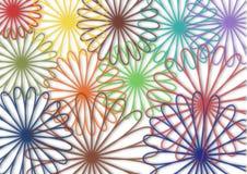 五颜六色的花抽象背景 免版税图库摄影