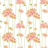 五颜六色的花无缝的样式背景 图库摄影