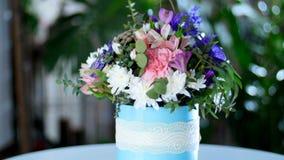 五颜六色的花束,给幸福美妙的芬芳  股票录像