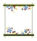 五颜六色的花框架 图库摄影