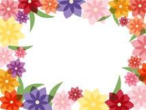 五颜六色的花框架 免版税库存图片