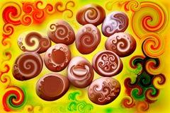 五颜六色的花梢蛋概念 免版税库存照片
