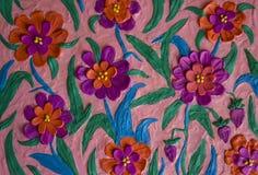 五颜六色的花由组成彩色塑泥孩子 免版税库存照片