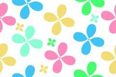 五颜六色的花的无缝的样式儿童的事设计的  皇族释放例证