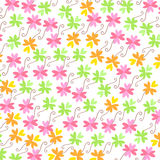 五颜六色的花纹花样传染媒介背景 免版税库存图片