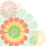 五颜六色的花背景传染媒介 免版税库存图片