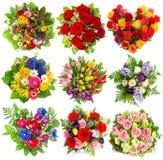 五颜六色的花花束为生日,婚礼,复活节, Holi 免版税库存照片