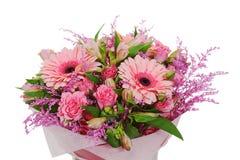 五颜六色的花花束排列焦点 免版税库存图片