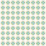 五颜六色的花装饰品背景 向量例证