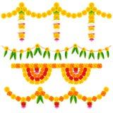五颜六色的花装饰安排 免版税库存照片