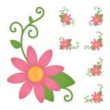 五颜六色的花象 免版税库存图片