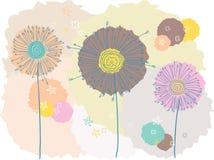 五颜六色的花 免版税库存照片