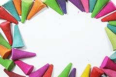五颜六色的芳香香火 免版税库存图片